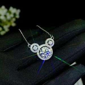 Mickey Mouse White Sapphire Necklace